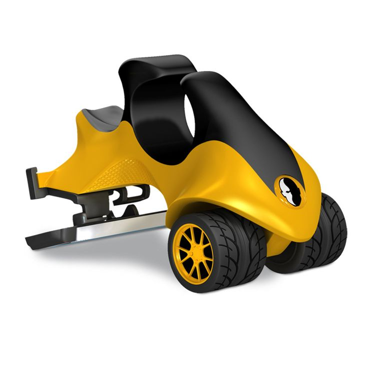 """We loved the fun element of this design for a cranial """"mower"""".  """"Vroom Vroom"""" noises optional.  The nearest supplier of this USA product is Plymouth based The Shaving Shack.  The only razor in the world designed specifically for head shavers!"""