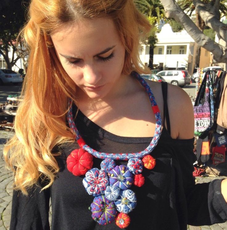 Textile jewelry handcrafted in South Africa, inspired by Africa.