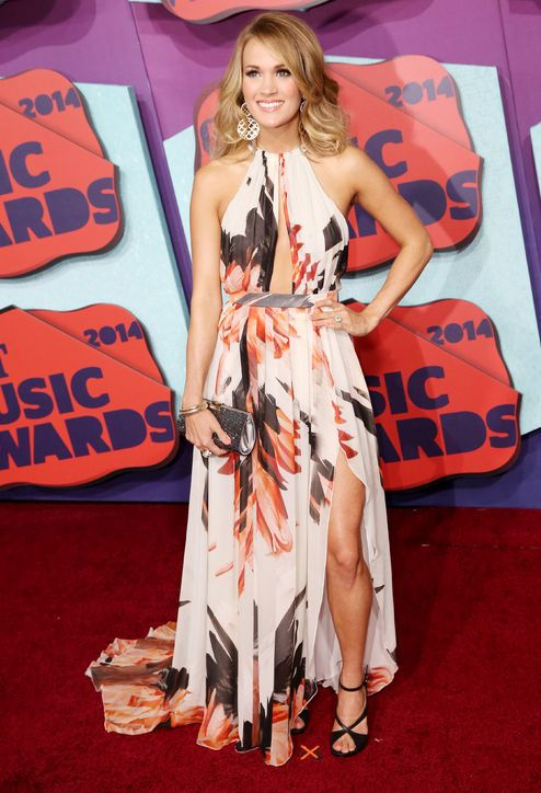 Carrie Underwood in Roberto Cavalli at the CMT Awards