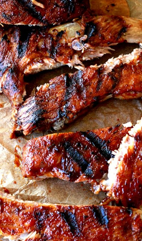 Fall-Off-The-Bone Slow Cooker Ribs Recipe ~ These ribs turned out juicy and literally falling off the bone tender... They are filled with flavor and that last few minutes on the grill, really makes them delicious.