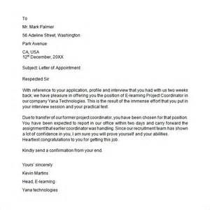 appointment letter formats letters pinterest sample collection