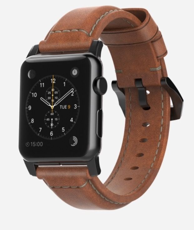 eeaae474a73 Traditional Leather Apple Watch Strap