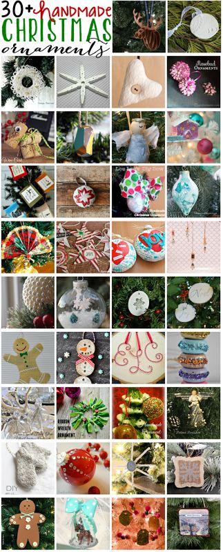 30 Handmade Christmas Ornaments #bloggerstrimatree