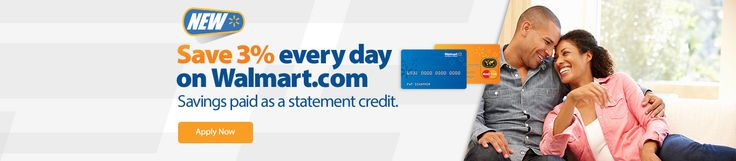 Apply Now - 10% Off orders when you open a walmart credit card