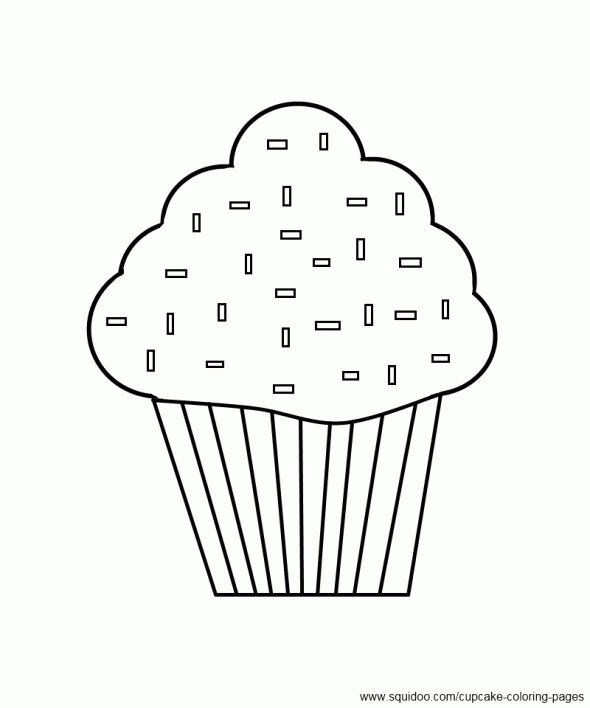 this site has lots of free printable cupcakes to color - Cupcake Candle Coloring Page