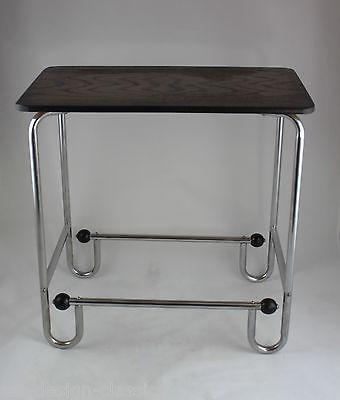 Original ART DECO Beistelltisch - Chrom - Tisch - Stahlrohr - MODERNIST Table • EUR 229,00