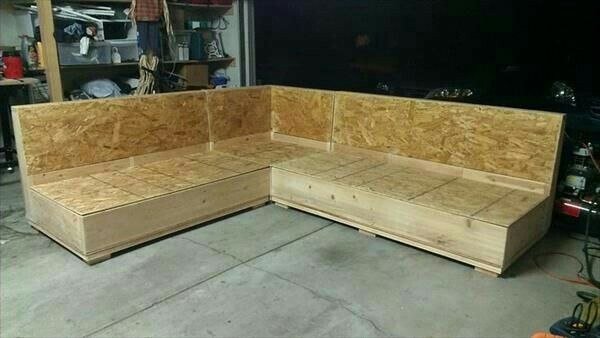 Home made sofa osb