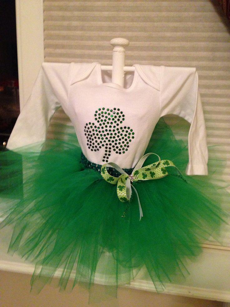 St patty day onesie tutu centerpiece baby girl shower