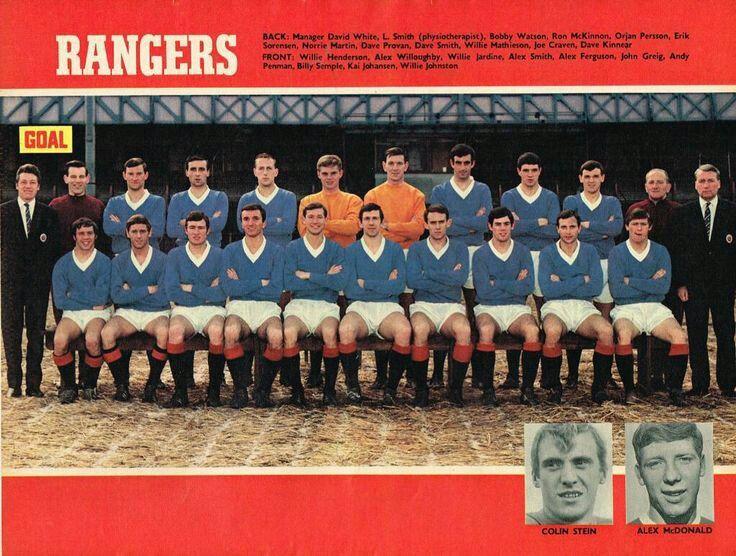 Rangers team group in 1967-68.