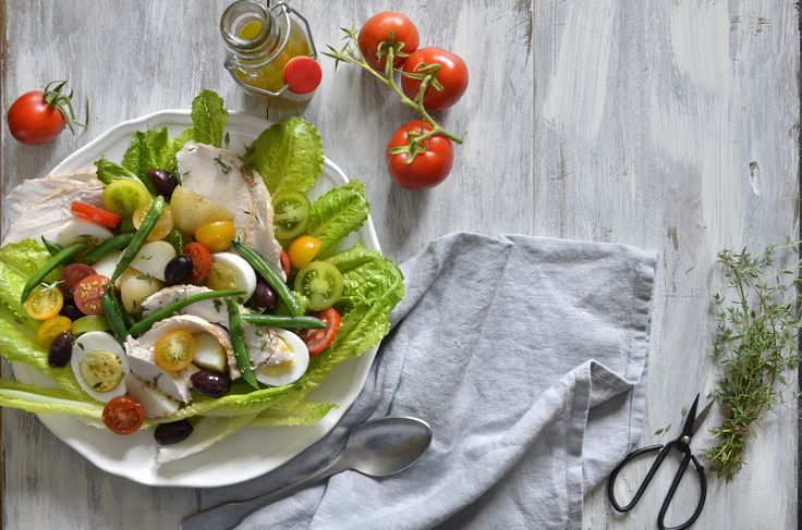 Niçoise Salad with Roast  #Turkey is a fresh, healthy lunch idea.