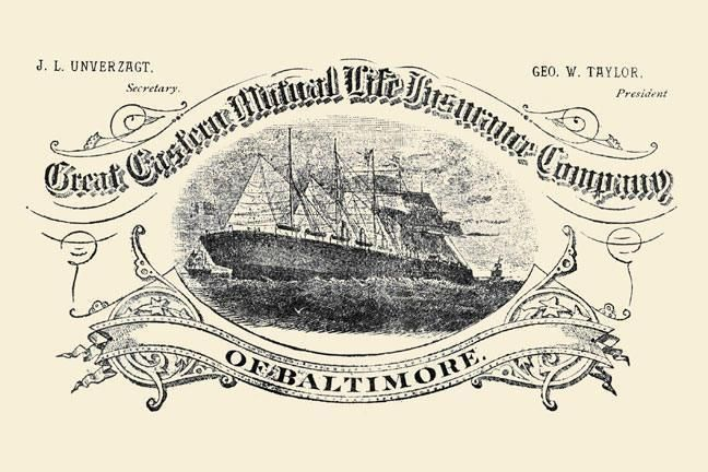 Great Eastern Mutual Life Insurance Company of Baltimore 12x18 Giclee on canvas