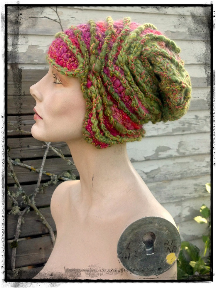 freeform crochet hat