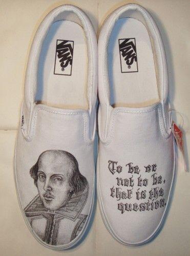 d0a8fdd86ad3 Custom Shakespeare themed shoes