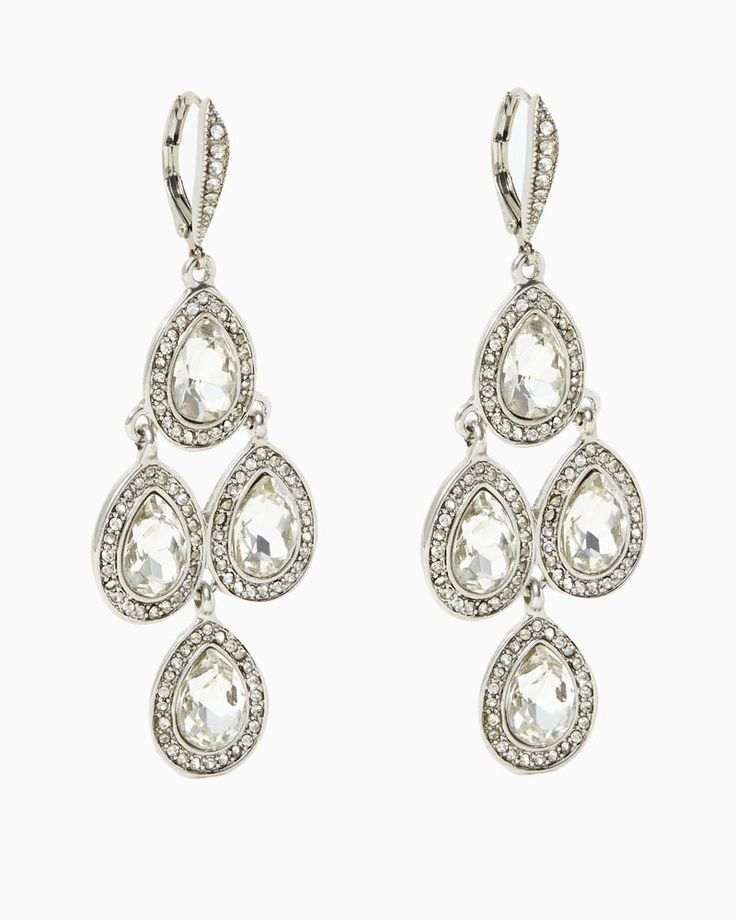 Platinum Status Earrings | UPC: 410006671836 #charmingcharlie #acharmedwedding