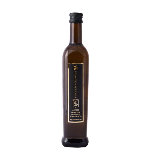 Aceite de Oliva Virgen Extra Ecológico de Finca Las Agrupadas, elaborado con las variedades Picual, Cornicabra y Arbequina