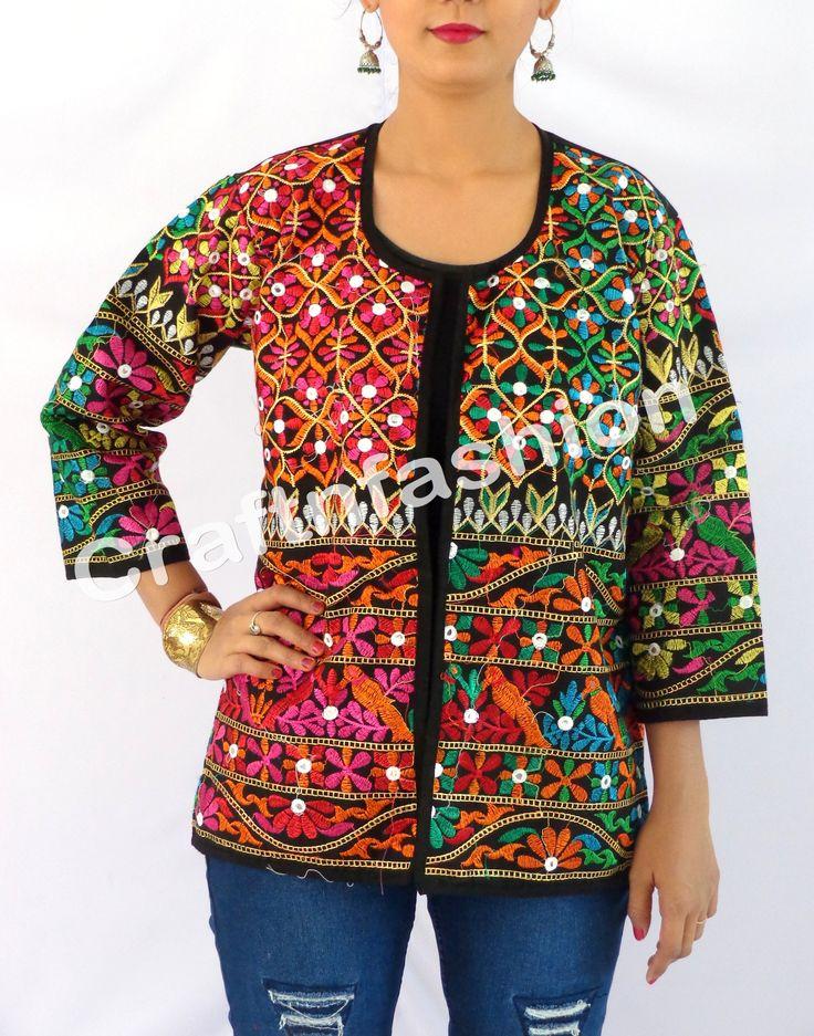 Gujarati Kutchi Jacket / Mirror Work Jacket / Indian Jacket / Traditional Jacket / Banjara Jacket / Gypsy Jacket / boho jacket / India Embroidered Jacket / kutchi Jacket/  Tribal Mirror Work Jacket / Vintage Jacket/ Designer Jacket /Waist Coat/ BY#craftnfashion #meghcraft #vintagecraft#indiancrafts#indianethnic