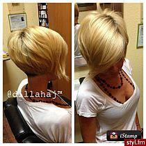Fryzury  Blond włosy: Fryzury Krótkie Na co dzień Prost…