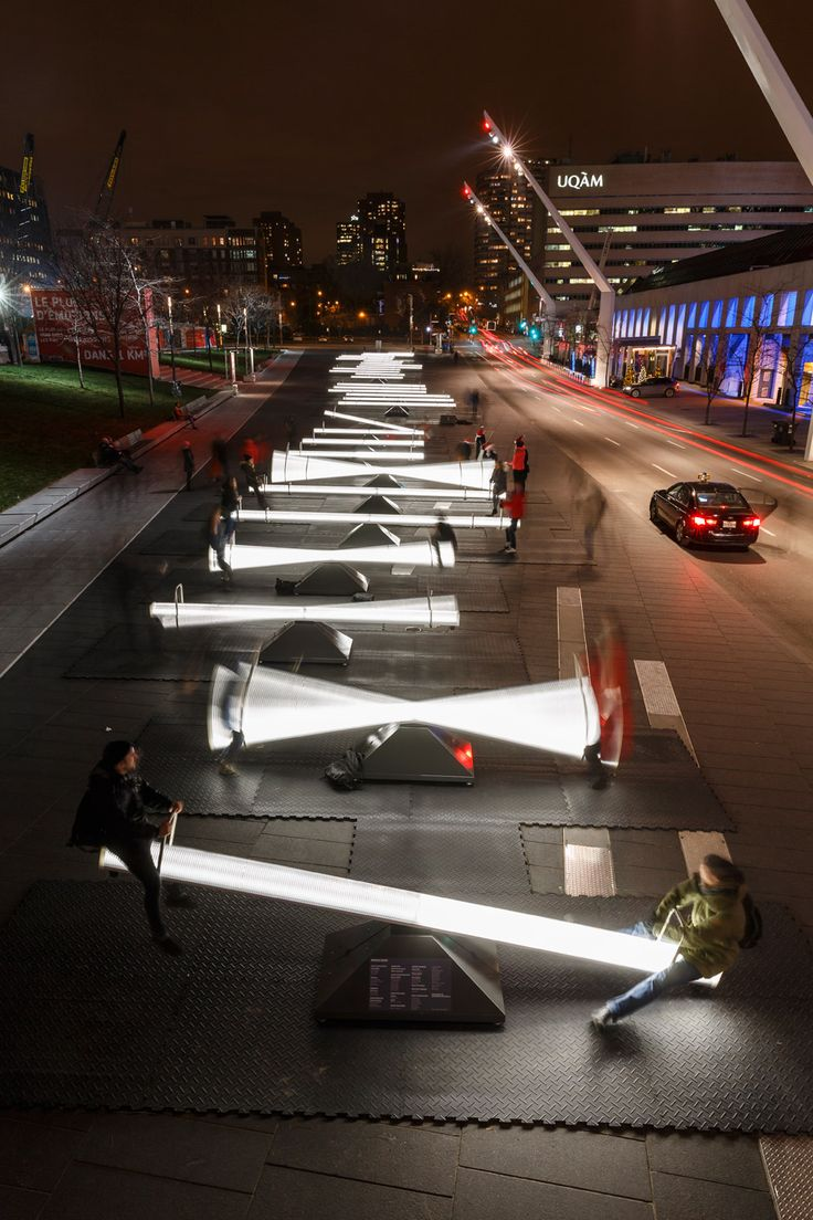 A team of Canadian designers and artists has created an installation in Montreal…