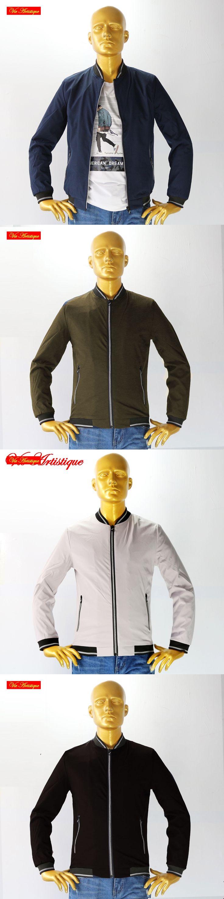 VA 2018 spring fall men's flight bomber baseball casual designer jacket oversize navy black off-white army windbreaker coat