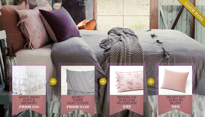 Shannon Fricke Bedlinen - mix and match to create your own sense of style...  www.shannonfricke.com