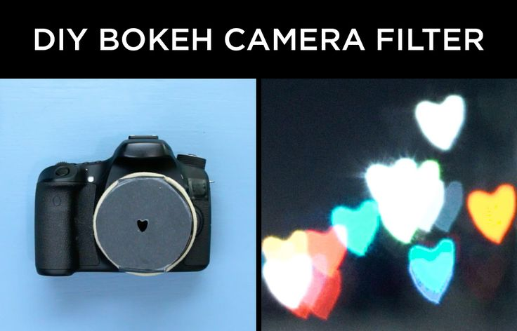 Turn light into shapes with this easy DIY bokeh filter!