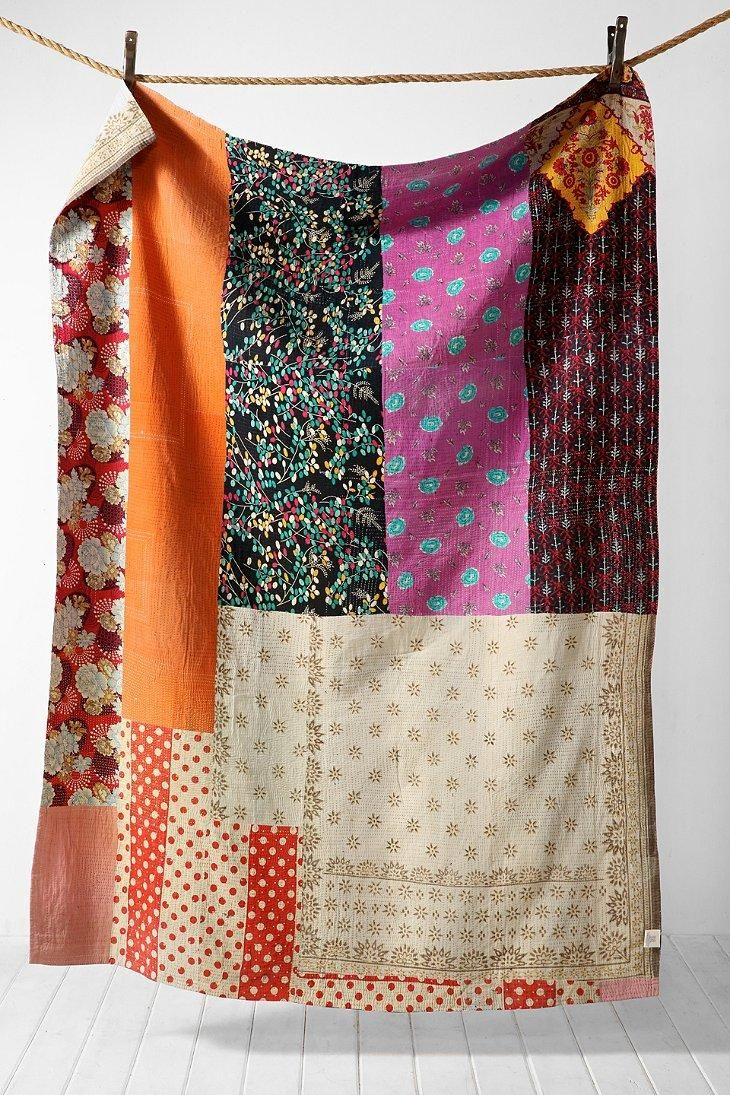 One-Of-A-Kind Kantha Quilt #urbanoutfitters