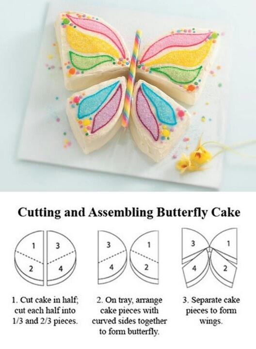 vlinder taart