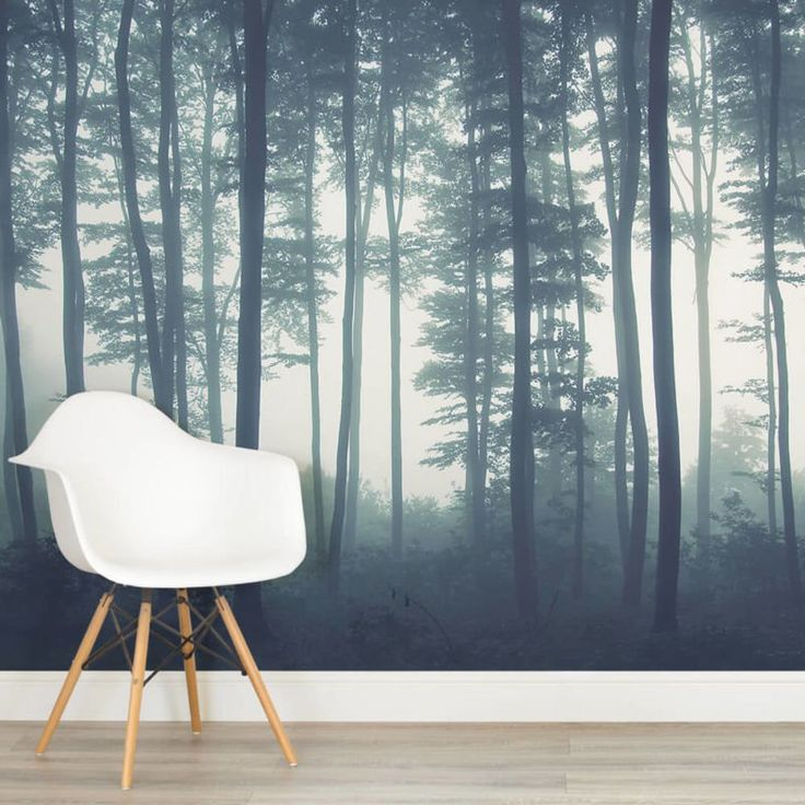 Sea of trees forest square wall murals wallpapers for 1wall forest wallpaper mural