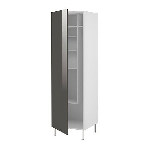 Ikea Faktum High Cabinet With Cleaning Interior Abstrakt Grey Laundry Reno Pinterest