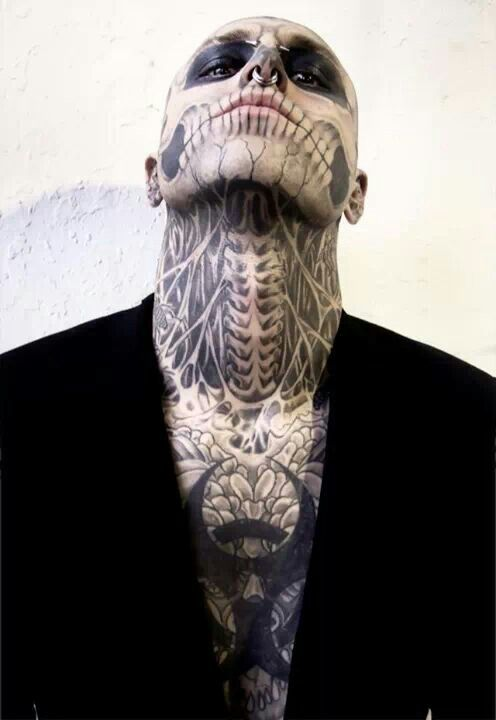 Rick Genest, the most beautiful freak in the world ...