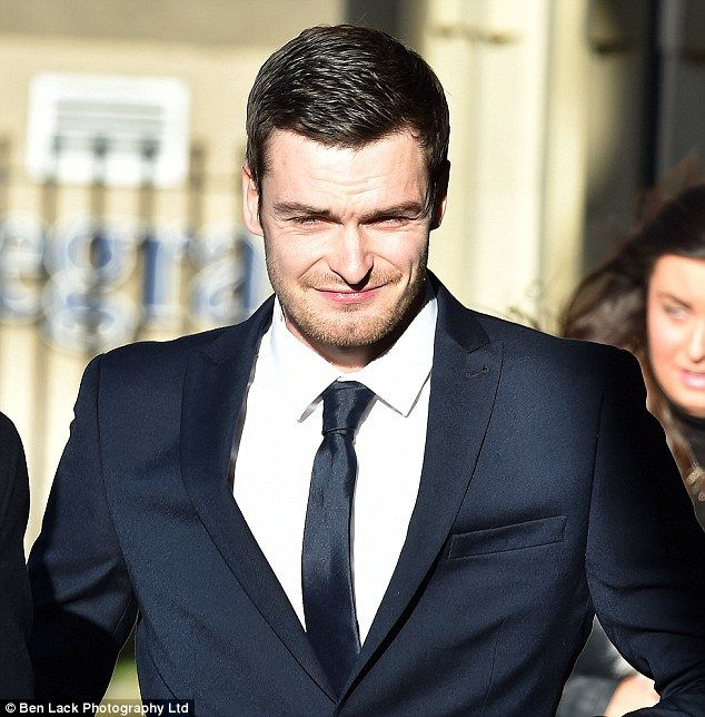 Adam Johnson's schoolgirl accuser says she was 'well up for it' but 'knew it was wrong' when she gave him 'a kiss and more' in his Range Rover - as England star's girlfriend stays away from court