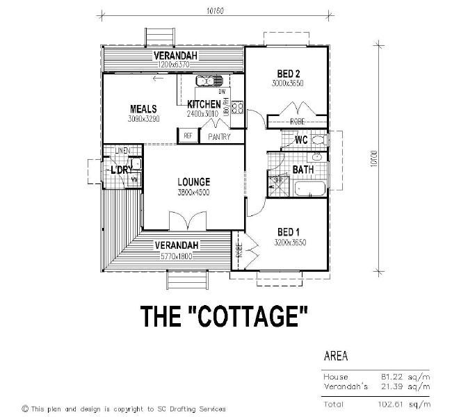 7 Clever Ideas For A Secure Remote Cabin: The Cottage Floor Plan** Like The Separated Toilet, But