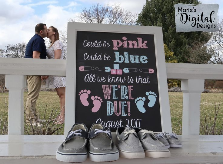 Are you looking for a great way to share with your friends and family the exciting news of expecting a baby? This cute chalkboard printable not only makes a great photo prop and / or card but it's also perfect to upload onto social media sites to make your big announcement! / Printable Pregnancy Announcement / Marie's Digital Designs