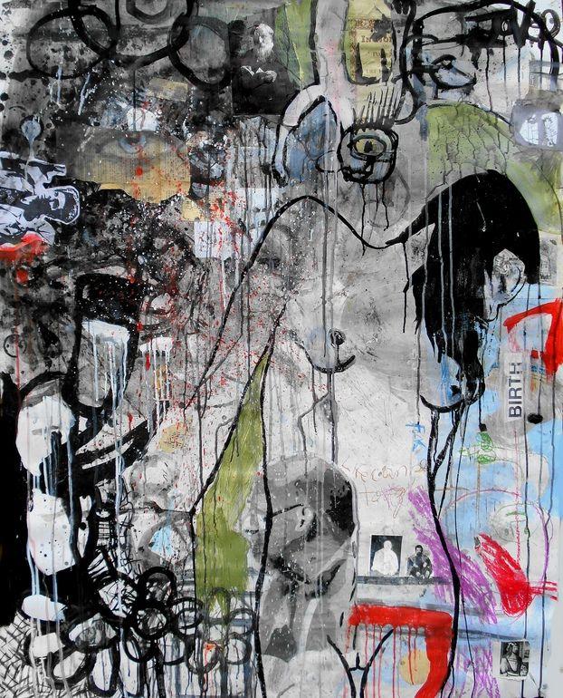 "Saatchi Online Artist: Loui Jover; Paint, 2013, Mixed Media ""walk in the park"""