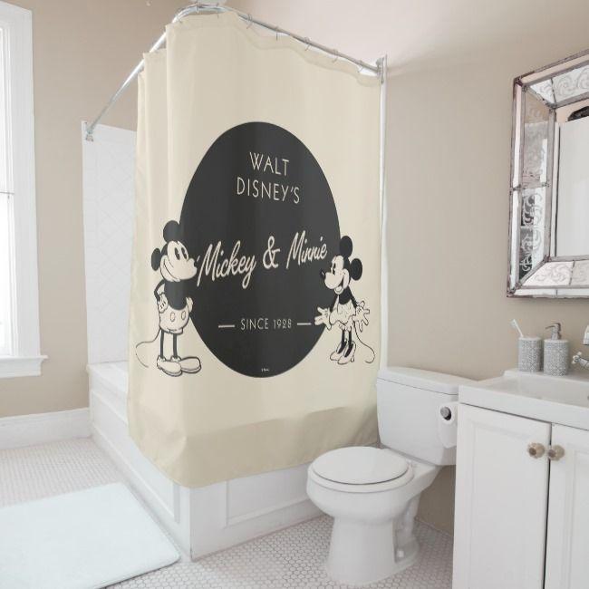 Create Your Own Shower Curtain Zazzle Com Mickey Bathroom