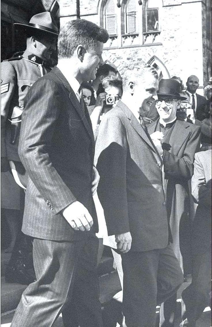 U.S. president John F. Kennedy and Canadian prime minister John Diefenbaker ~ Ottawa, May 1961 ♥❃❋✽✾❀❃ ♥ http://en.wikipedia.org/wiki/John_F._Kennedy