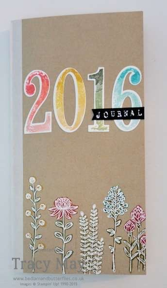 New Year's Resolutions featuring Stampin' Up! Number of Years and Flowering Fields Tracy May