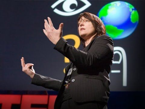 """❛Pattie Maes❜ (with Pranav Mistry) TED 2009: """"Unveiling game-changing wearable tech"""" ~ This demo – from Pattie Maes' lab at MIT, spearheaded by Pranav Mistry – was the buzz of TED. It's a wearable device with a projector that paves the way for profound interaction with our environment. Imagine 'Minority Report' and then some."""""""