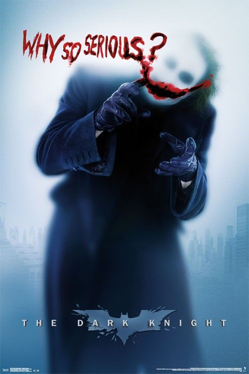 The Dark Knight - Joker (Heath Ledger) Why so Serious?