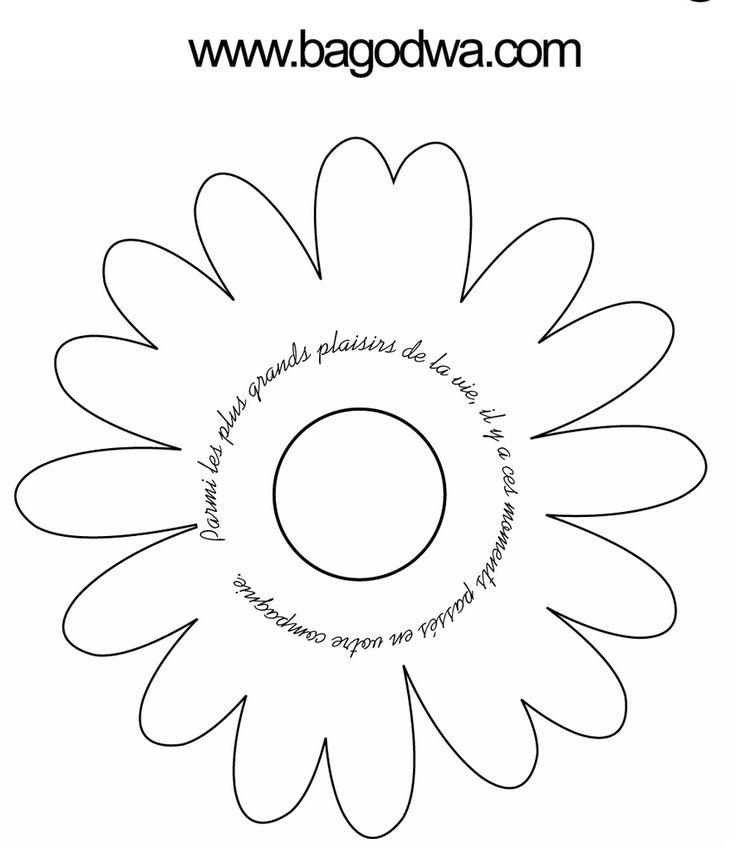 modèle fleur avec texte