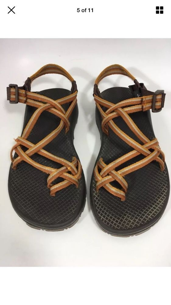 eaf7d26e3b2c Chaco Brown   Orange Rubber Summer Comfort Sport Sandal Womens 9  fashion   clothing  shoes  accessories  womensshoes  sandals (ebay link)