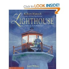 Teach questioning skills (I wonder...) with The Lighthouse by Robert Munsch. This is a wonderful book, but it is sad because it deals with a granddaughter losing a grandfather.