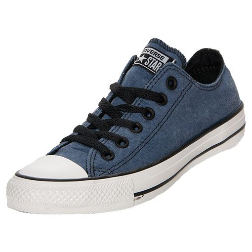 Men's Converse Chuck Taylor Ox Vintage Casual Shoes | FinishLine.com | Denim/Black