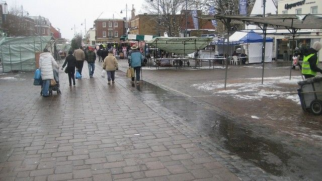 Romford market today.....hardly worth the effort going there now. Only half the market seems to have stalls..havering council needs to do something or the market will soon disappear