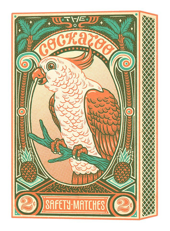The Cockatoo | Riso Print on Behance
