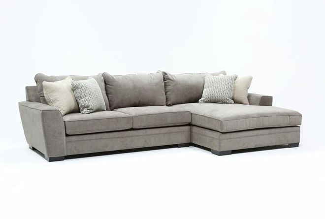 Delano Charcoal 2 Piece Sectional With Right Arm Facing Chaise Sectional Chaise Couch