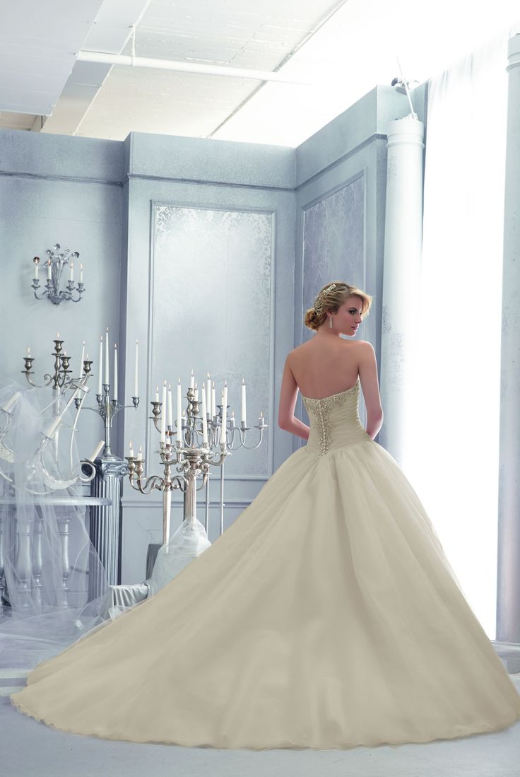 85 best Mori Lee 2015 images on Pinterest | Short wedding gowns ...