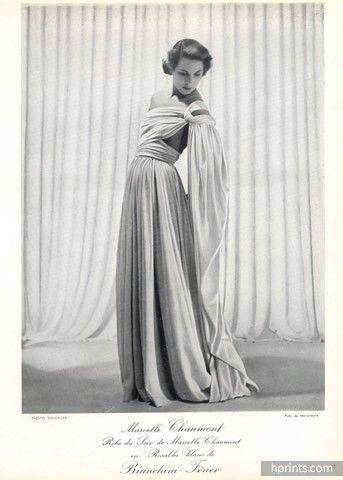 Marcelle Chaumont (Couture) 1949 Seeberger, Bianchini Férier