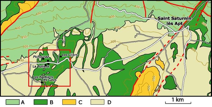 Le Gargasien (Aptien moyen) de La Tuilière - St-Saturnin-lès-Apt (région du stratotype historique de l'Aptien, Vaucluse, SE France) : localisation géographique et corrélations des affleurements