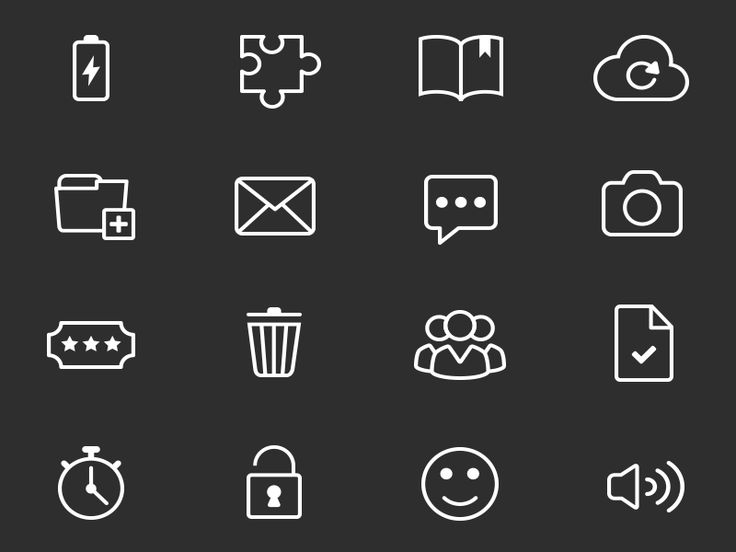 Icon set preview by Adam Hayek